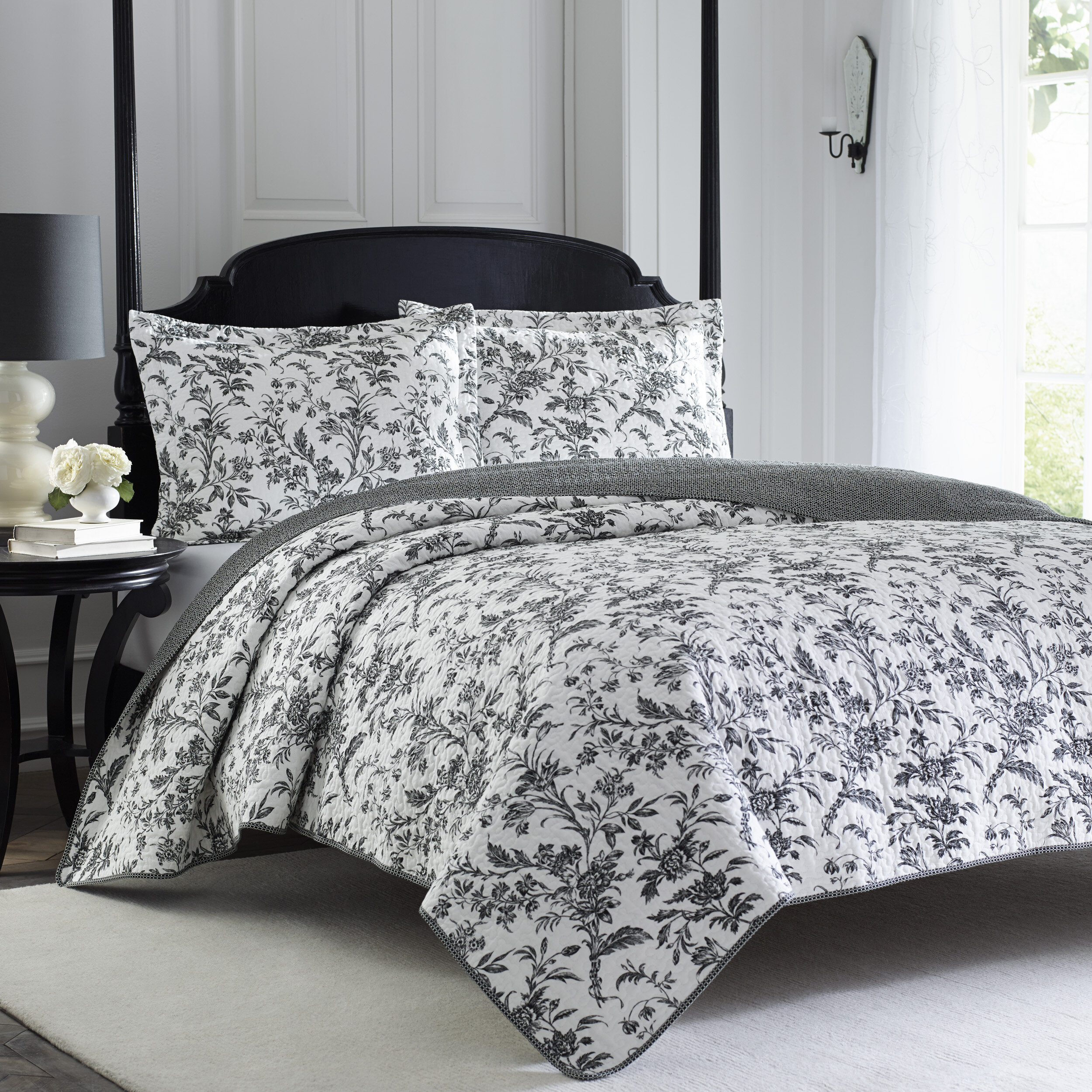 Laura Ashley Amberley Reversible Quilt Set By Laura Ashley Home U0026 Reviews |  Wayfair