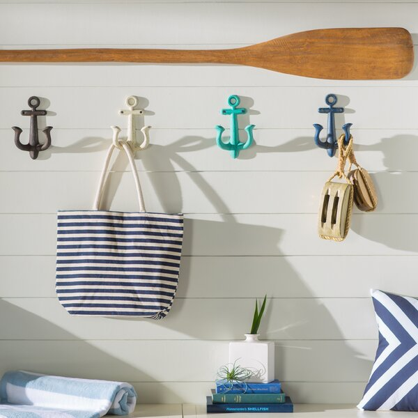 Merveilleux Beachcrest Home Stonehaven Anchor 4 Piece Metal Wall Hook Set U0026 Reviews |  Wayfair