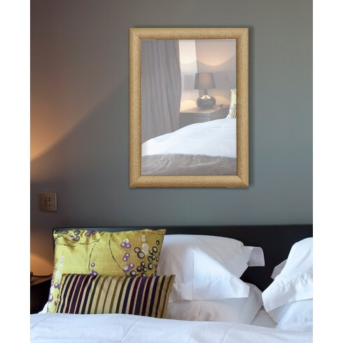 Sparkling Rectangular Glitter Framed Wall Mirror