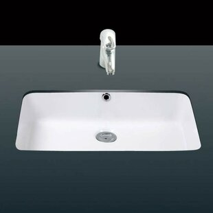 Under Ceramic Rectangular Undermount Bathroom Sink With Overflow