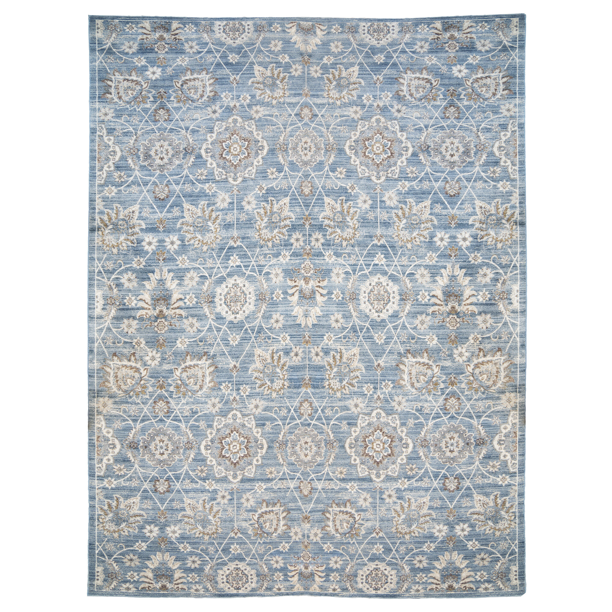 World Menagerie One Of A Kind Erica Bluegray Area Rug & Reviews -