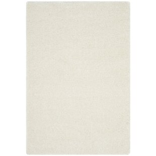 Best Reviews Elodie White Shag Area Rug By Mercer41