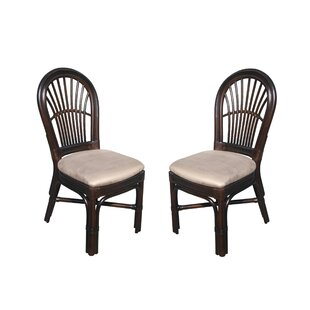 Alim Traditional Rattan Upholstered Dining Chair (Set of 2)