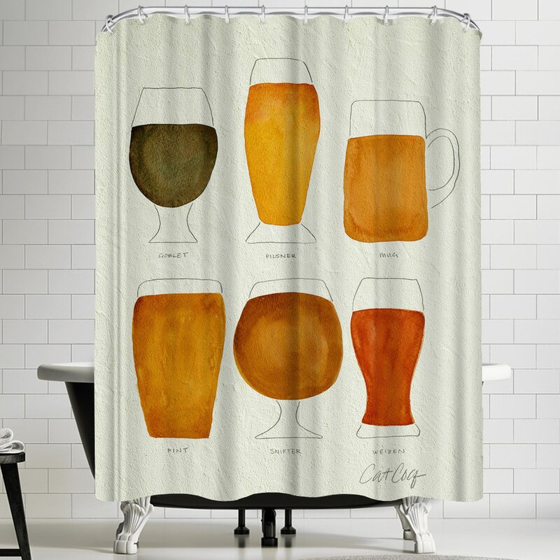 East Urban Home Beer Shower Curtain Reviews