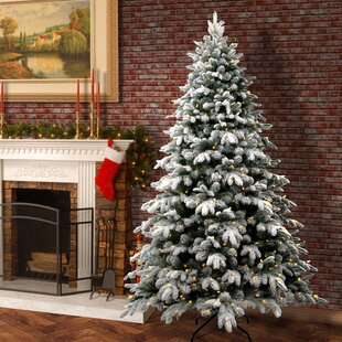 snowy avalanche 75 whitegreen fir trees artificial christmas tree with led colored and white lights