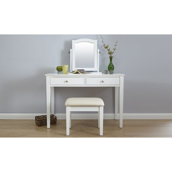 riley ave andre dressing table set with mirror reviews. Black Bedroom Furniture Sets. Home Design Ideas