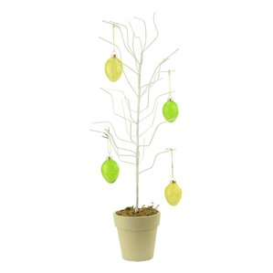 Decorative Potted Spring Easter Egg Ornament Display Twig Tree