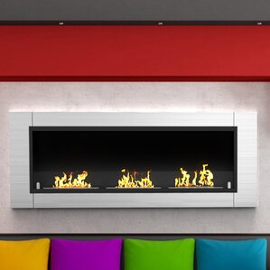 Kelling Ventless Built in Recessed Wall Mount Bio Ethanol Fireplace by Latitude Run