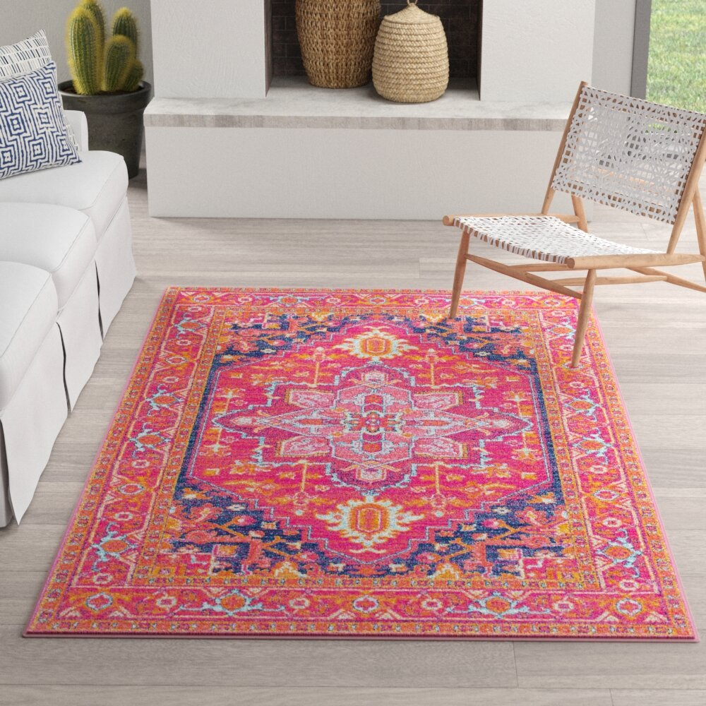 Christophe Blooming Pink Orange Area Rug Reviews Joss Main