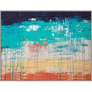 Turquoise And Orange Wall Art | Wayfair