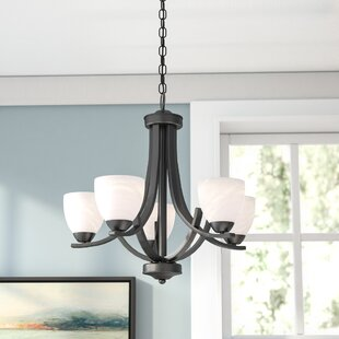 Great Crofoot 5 Light Shaded Chandelier
