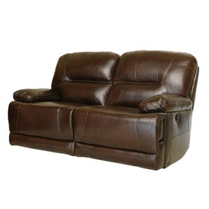 Bartlet Leather Reclining Loveseat by Darby ..