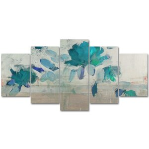 Painted Petals IV-B 5 Piece Painting Print on Wrapped Canvas Set