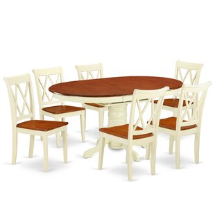 Korman 7 Piece Extendable Solid Wood Dining Set