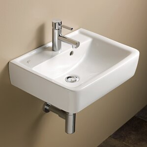 Bathroom Sinks Wall Mount wall mounted sinks you'll love | wayfair