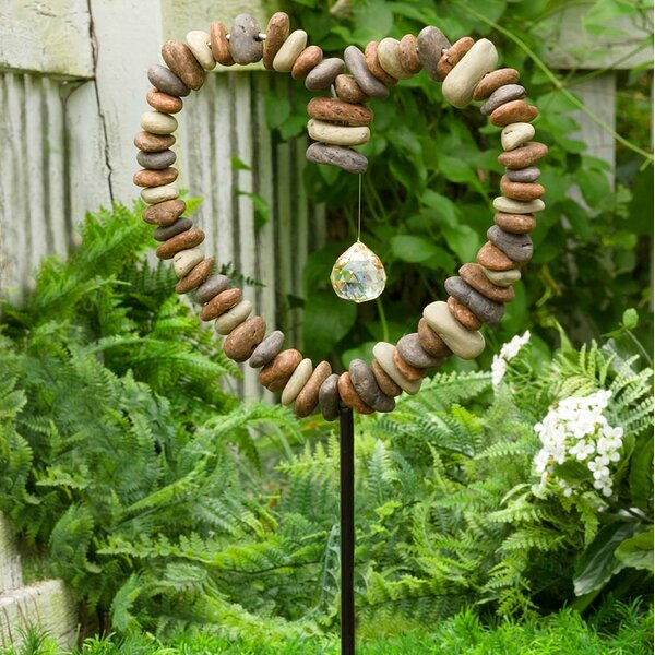 Wind U0026 Weather Rock Heart Decorative Garden Stake U0026 Reviews | Wayfair
