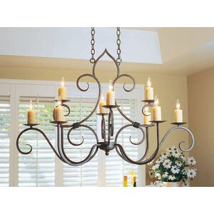 Clifton Oval 10-Light Candle-Style Chandelier