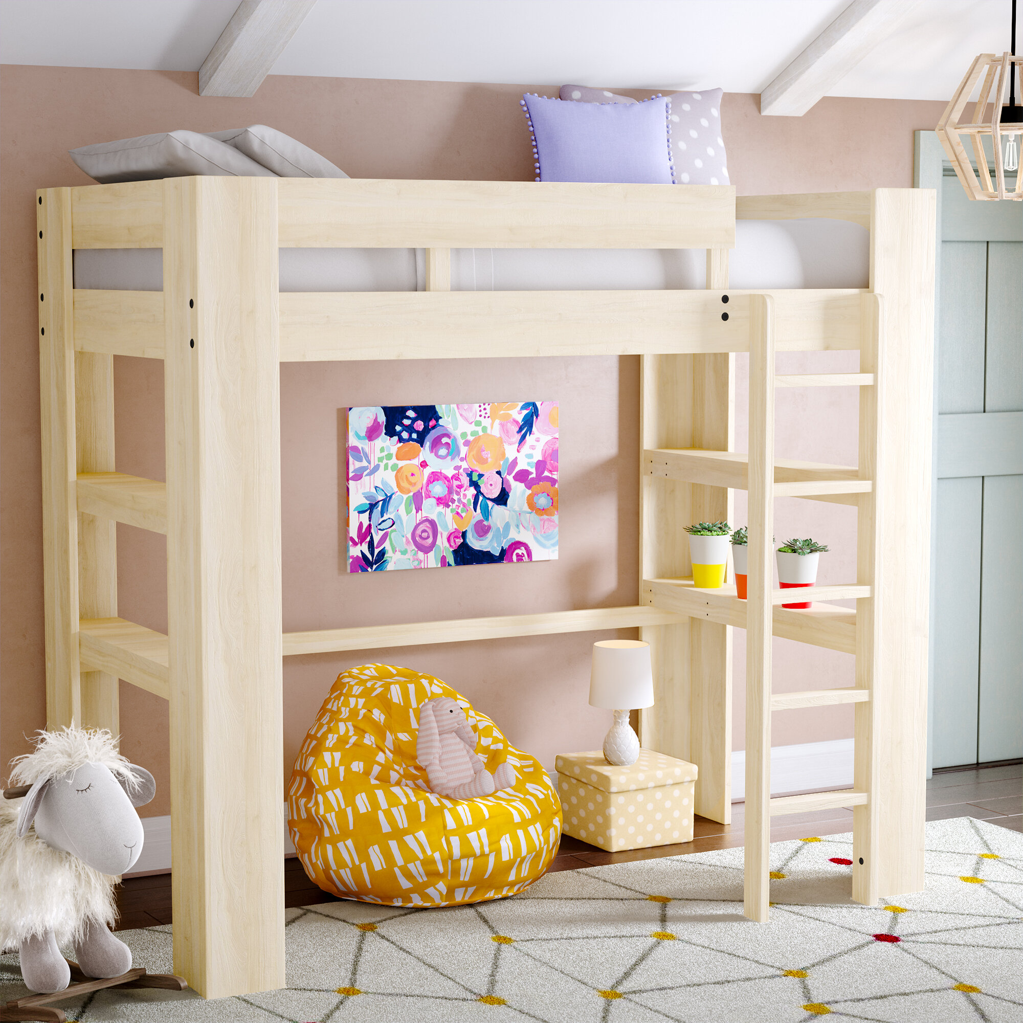bunk beds lowe desk and madison corliving with b bed view s bmg loft larger twin storage