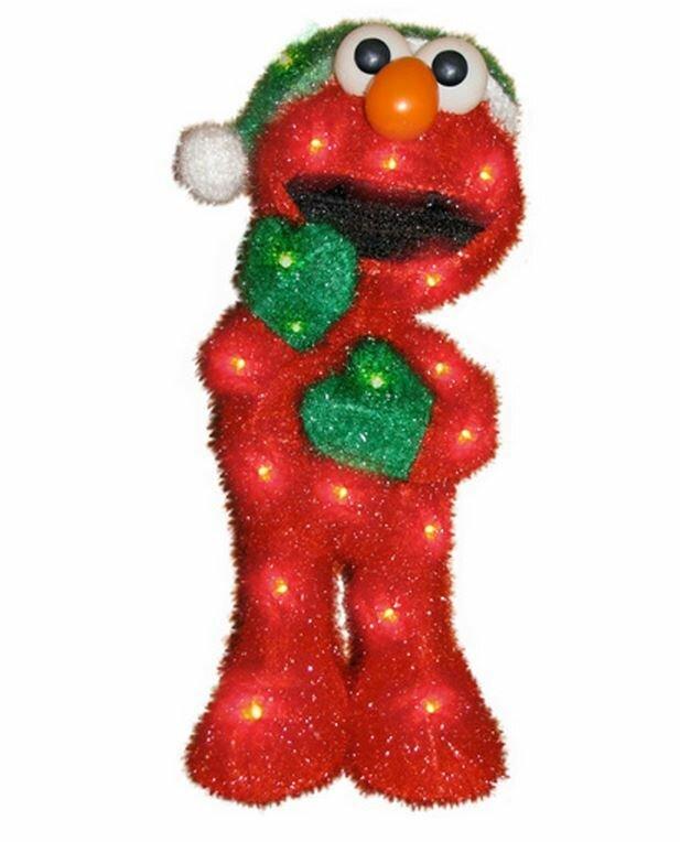 Product Works Soft Tinsel Sesame Street Elmo Christmas Decoration with Lights & Reviews | Wayfair.ca