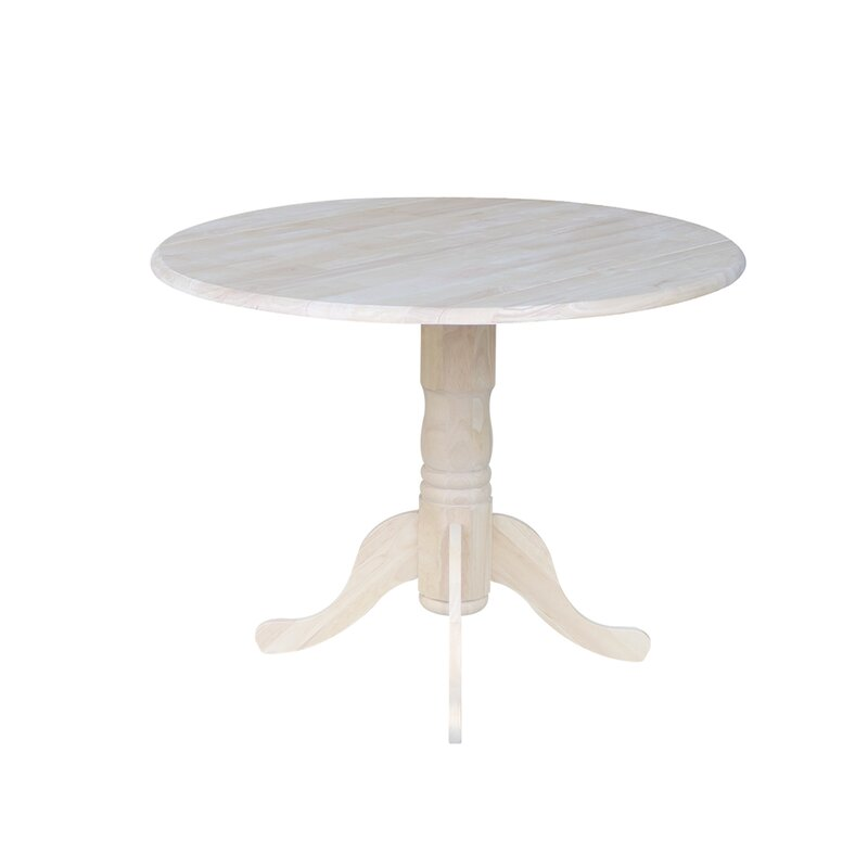 Three Posts Boothby Round 42 Dual Drop Leaf Dining Table Reviews