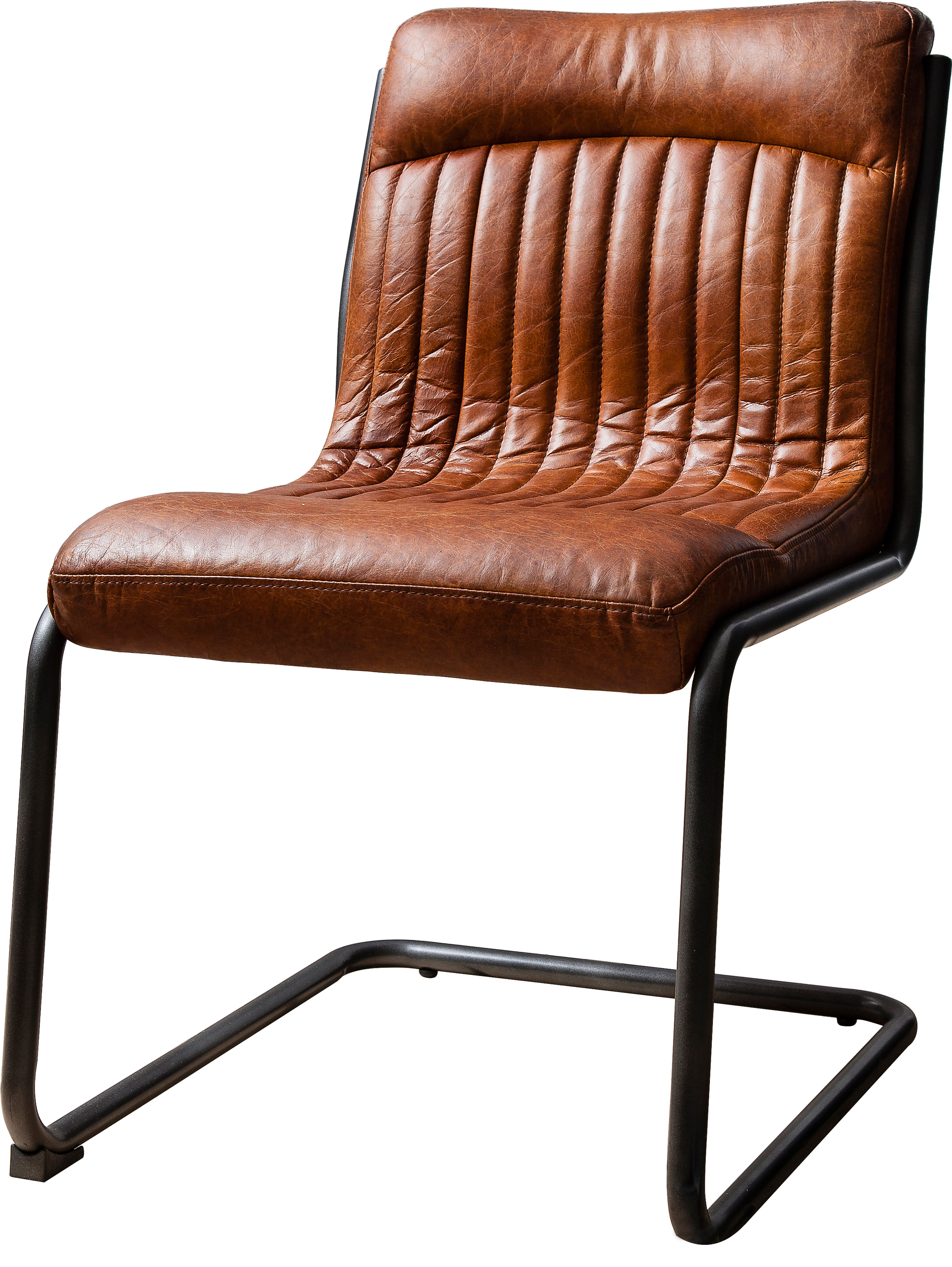 Chisholm Genuine Leather Upholstered Dining Chair