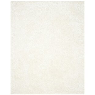 Great deal Chesa Hand-Tufted/Hand-Hooked White Area Rug By Wade Logan