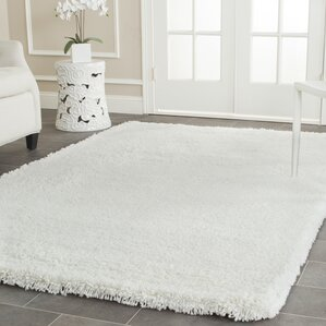 white rug. eliza shag white area rug u