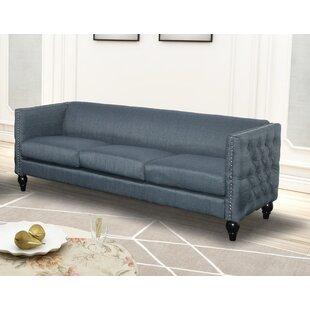 Genial Blue Nail Head Sofa | Wayfair