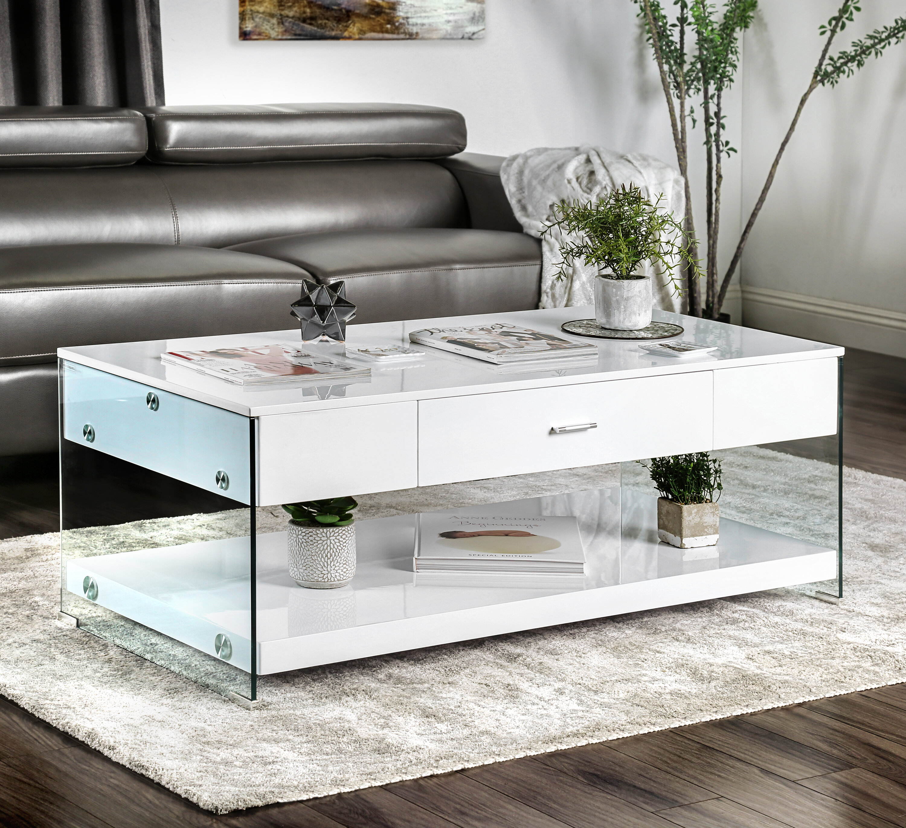 Contemporary Coffee Table.Trent Austin Design Guero Contemporary Coffee Table