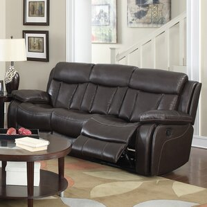 Darmstadt Leather Reclining Sofa by Darby Home Co