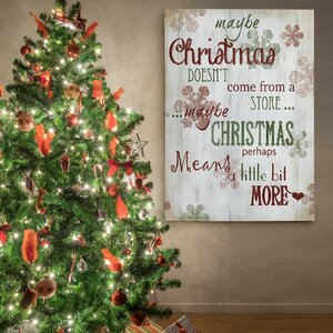 'Christmas Means More Type' Photographic Print on Wrapped Canvas