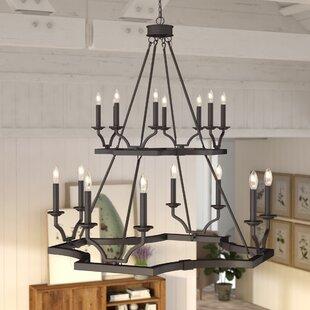 Rustic chandeliers youll love wayfair mcdowell 16 light chandelier aloadofball Choice Image