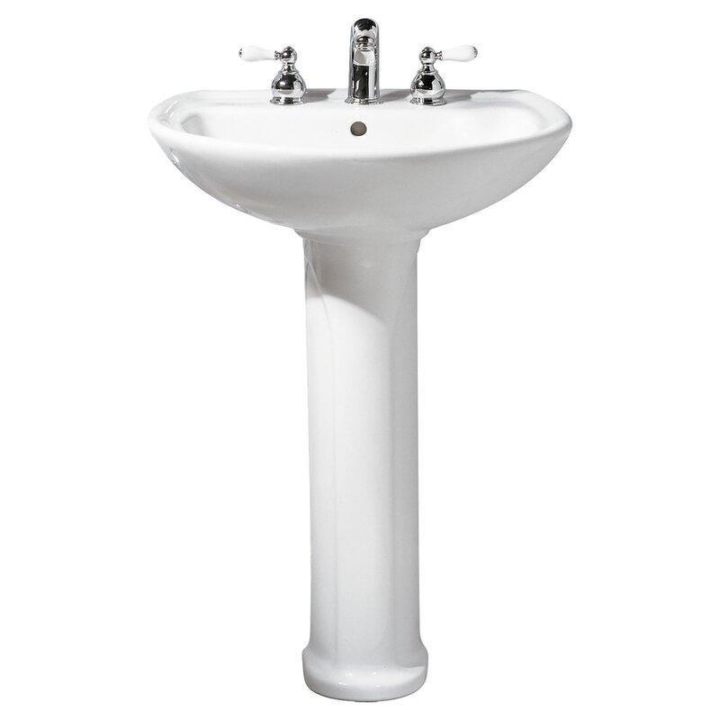 American Standard Cadet Ceramic 25 Pedestal Bathroom Sink With Overflow Reviews