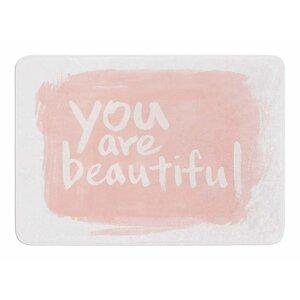 Brush Lettering Beautiful by Sing Jo Memory Foam Bath Mat