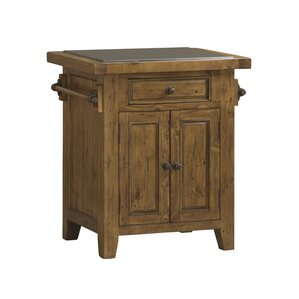 McAlester Kitchen Island with Granite Top by Loon Peak