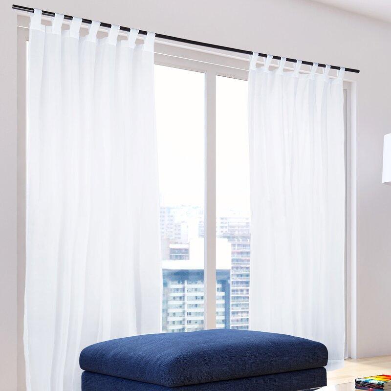 relaxdays gardinen set mit schlaufen bewertungen. Black Bedroom Furniture Sets. Home Design Ideas