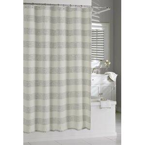 linen shower curtain white. Burdella Linen Shower Curtain Modern Striped Curtains  AllModern