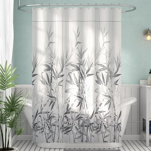 Tan And Gray Shower Curtain