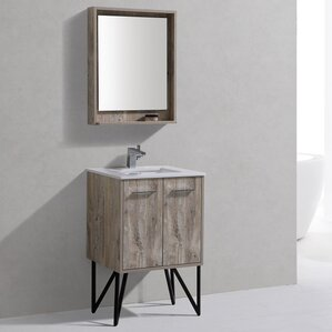 Bathroom Cabinets Gray rustic bathroom vanities you'll love | wayfair