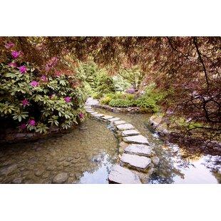 Attirant U0027Stepping Stones At Butchart Gardens 2 Victoria B.C. 09u0027 Photographic Print