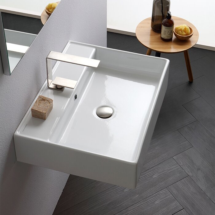 Scarabeo By Nameeks Teorema Ceramic 24 Wall Mount Bathroom Sink