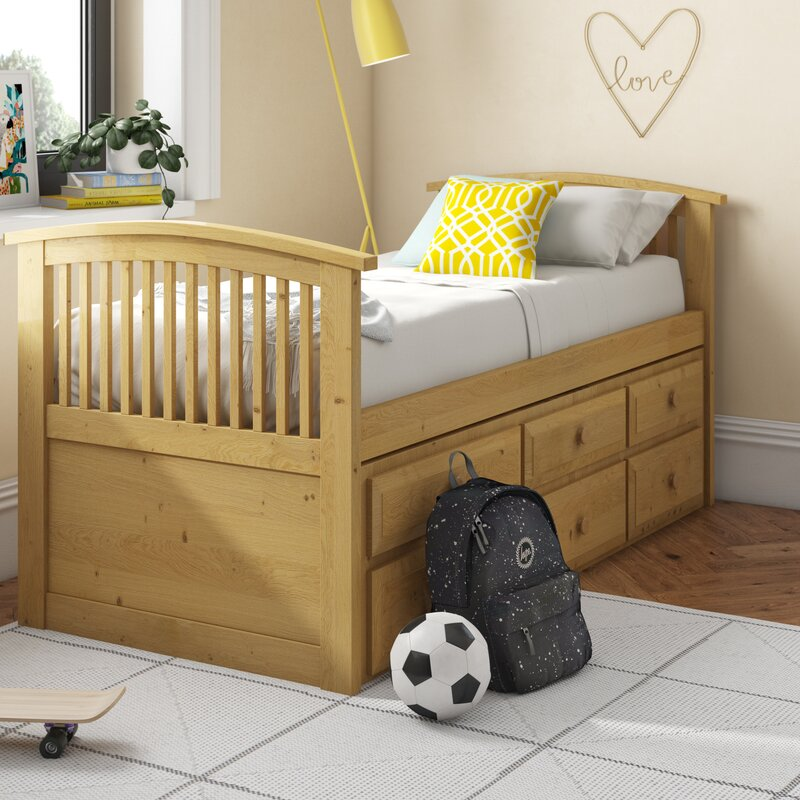 Harriet Bee Doreen Single Cabin Bed with Trundle & Reviews