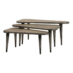 Everdeen 3 Piece Wood and Metal Table Set by Mistana