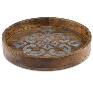 Mango Wood Round Heritage Tray