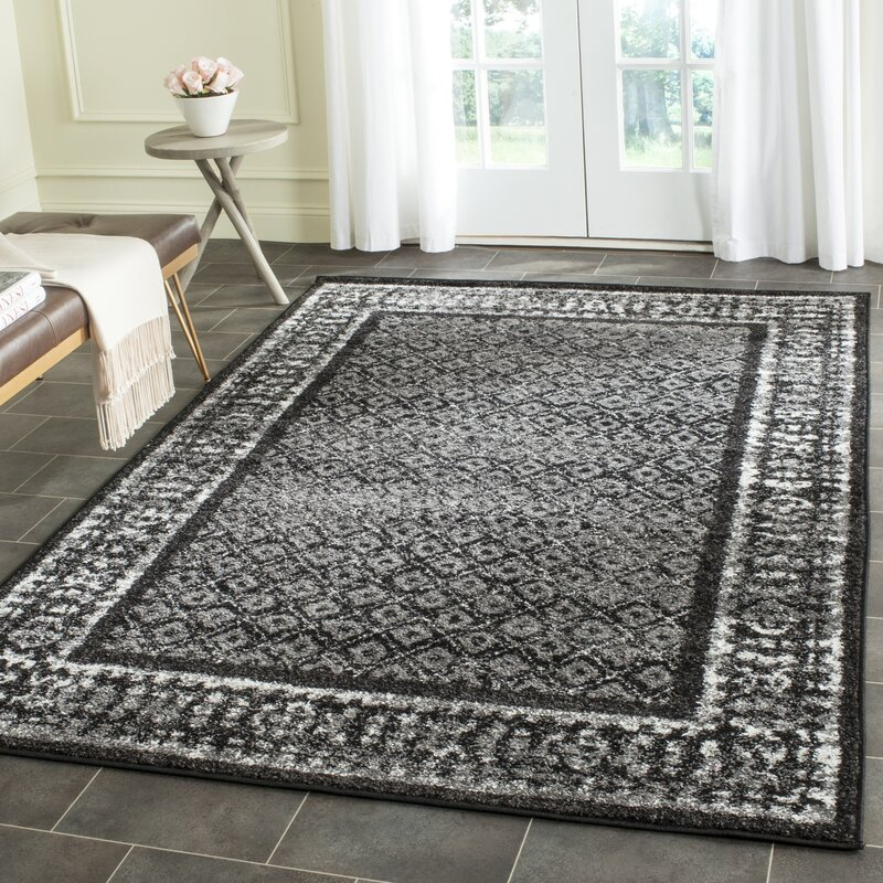 Brassfield Blacksilver Area Rug Reviews Joss Main