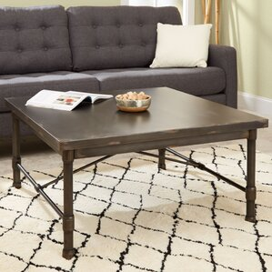 Selena Industrial Square Coffee Table ..