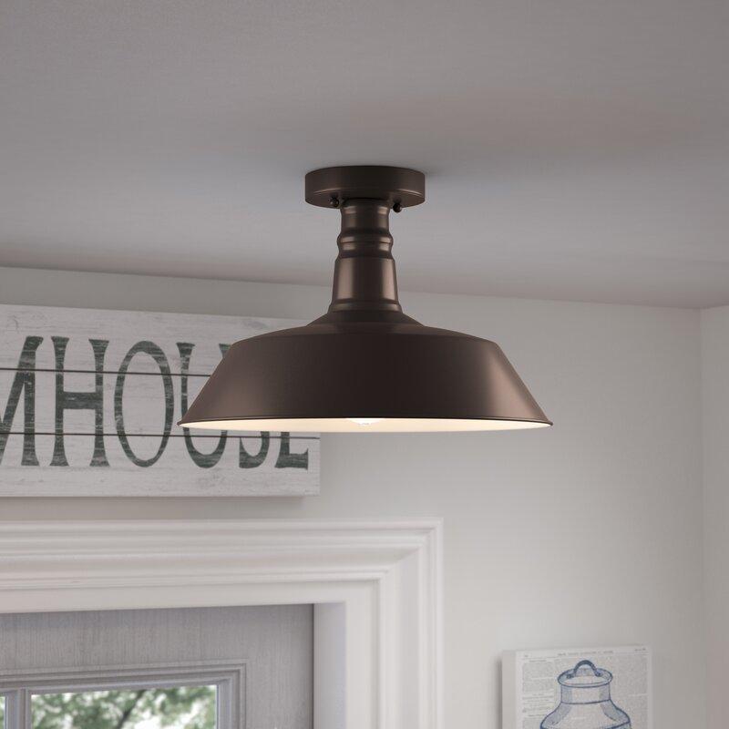 semi flush mount lighting. Bouvet 1-Light Semi Flush Mount Lighting M