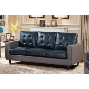 Drumheller Contemporary Sofa with Velvety Cushion by Latitude Run