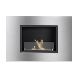 Quadra Recessed Ventless Wall Mount Ethanol Fireplace by Ignis Products