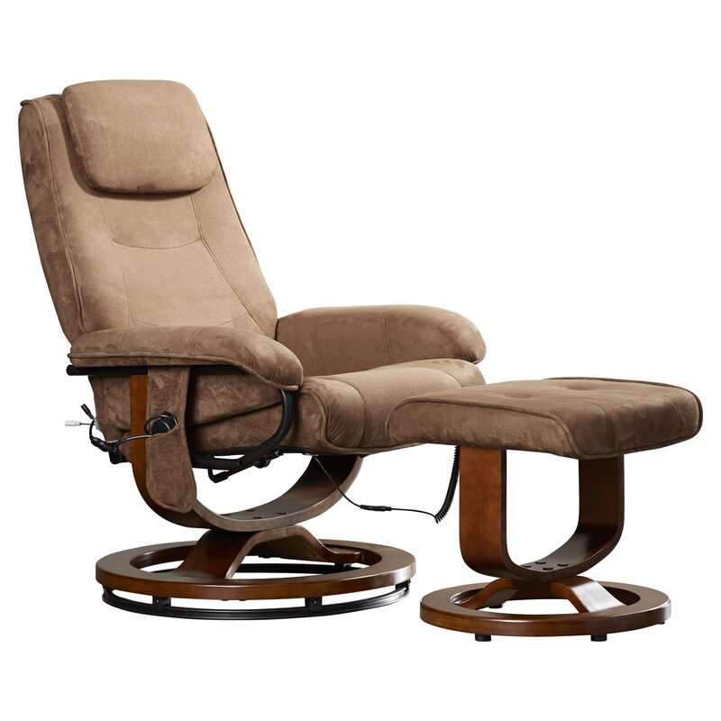 heated massage chair. Reclining Heated Massage Chair With Ottoman